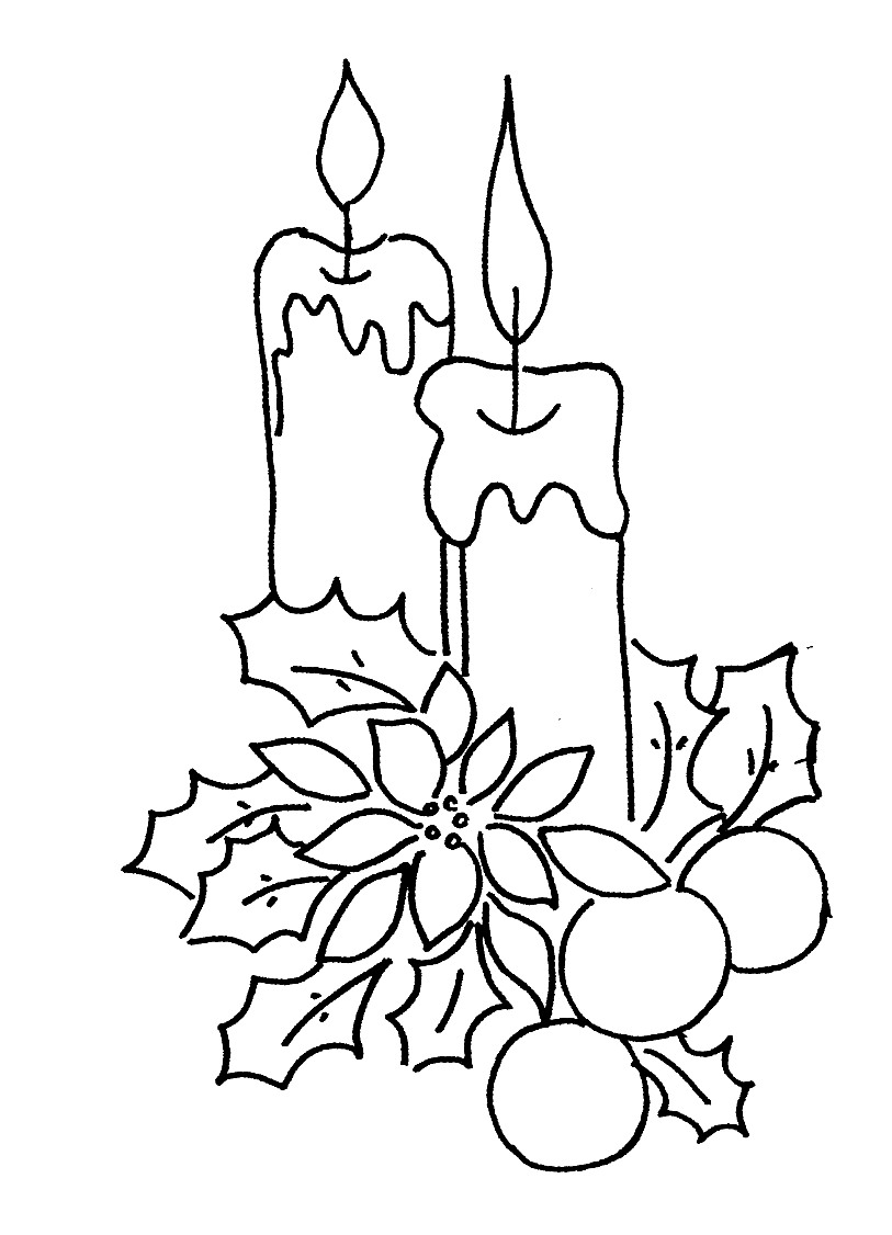 813x1126 Print Christmas Tree Candles Coloring Pages Or Download