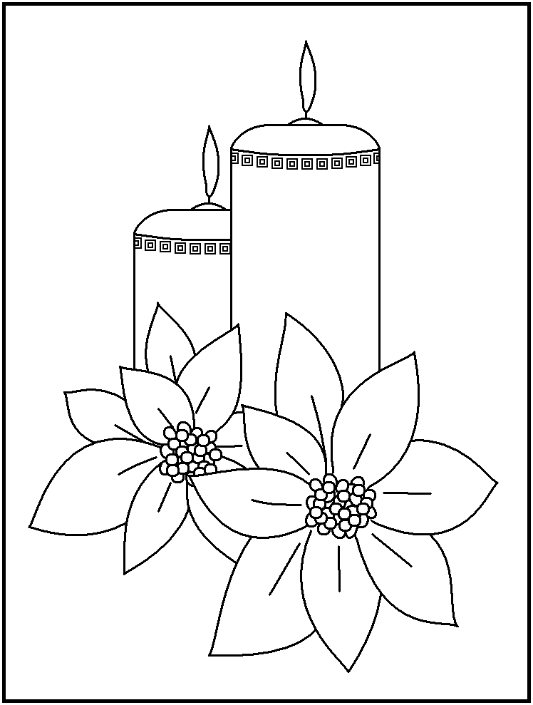 748x989 Images Of Candles Coloring Pages