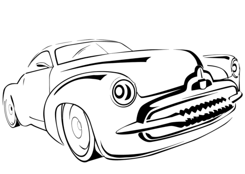 480x340 Classic Car Coloring Page Free Printable Coloring Pages