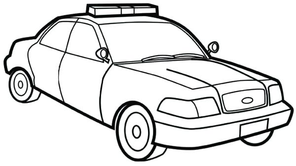 600x337 Police Cars Coloring Pages How To Draw Police Car Coloring Page