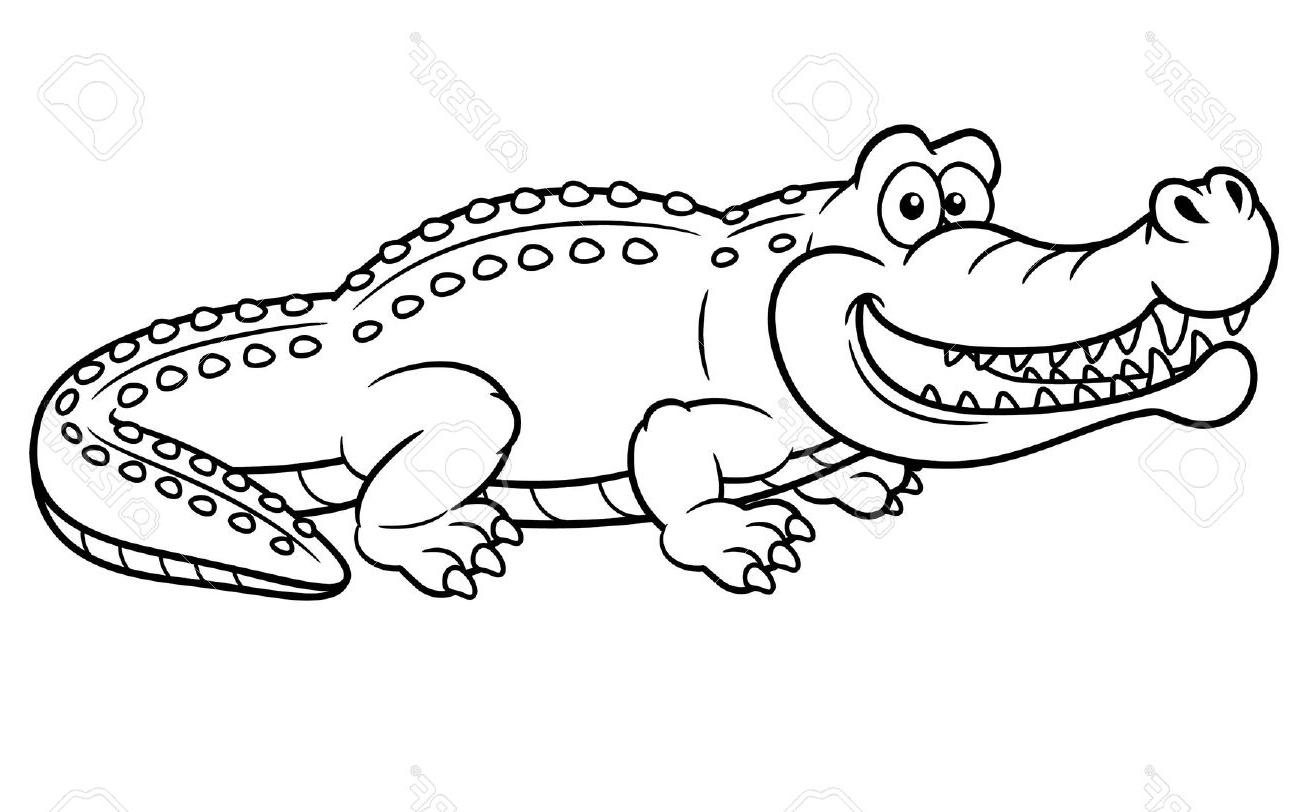 1300x812 Crocodile Cartoon Drawing How To Draw A Crocodile Cartoon