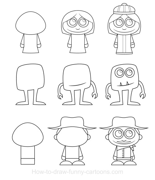 500x580 Easy Cartoon People To Draw How To Draw Cartoon Characters Free