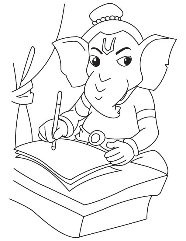 612x792 Lord Ganesh Drawing For Children Download Free Lord Ganesh