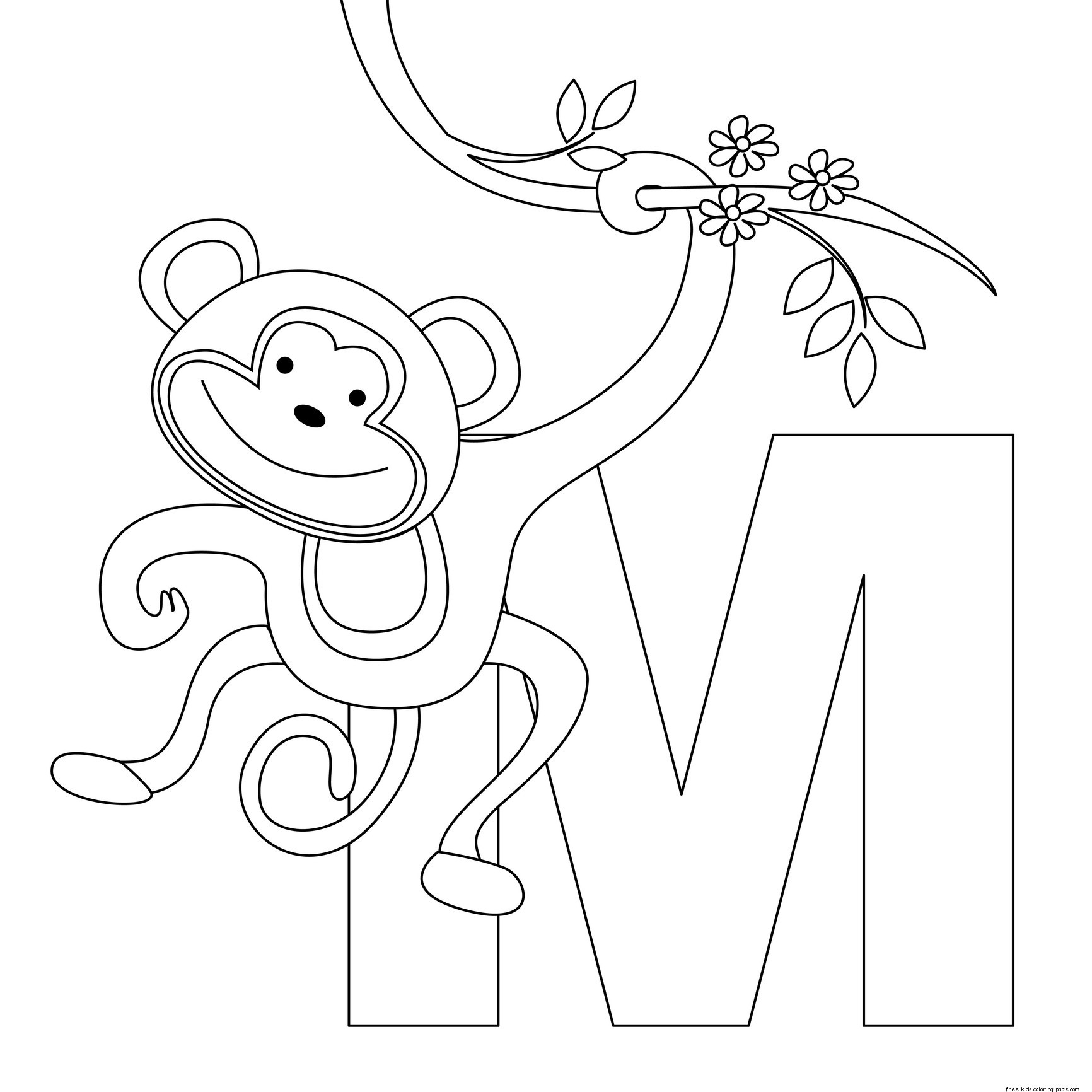 1732x1732 Letter N Coloring Pages Of Alphabet (N Letter Words) For Kids New
