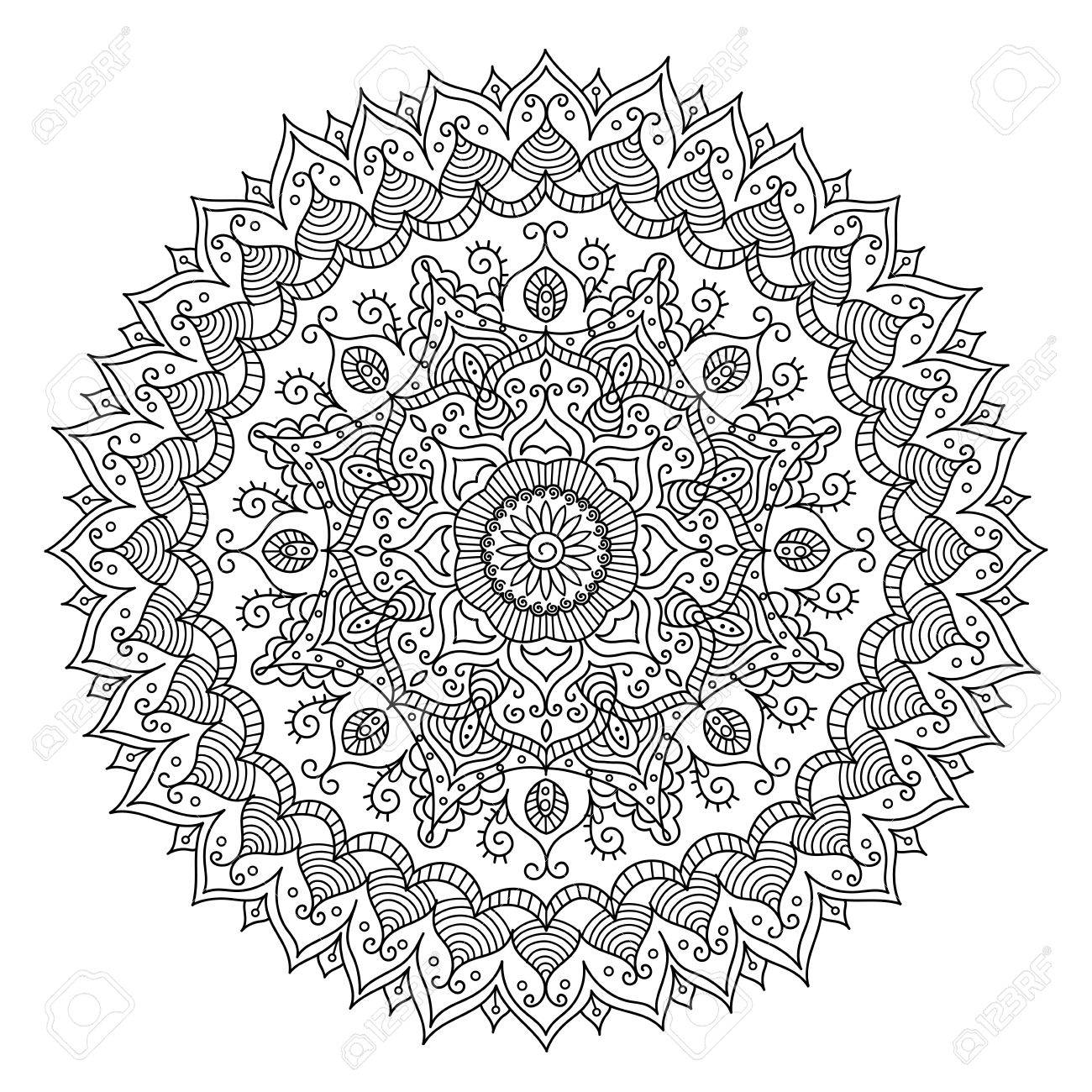 1300x1300 Vintage Mandala. Vector Round Ornament Tribal Pattern. Great