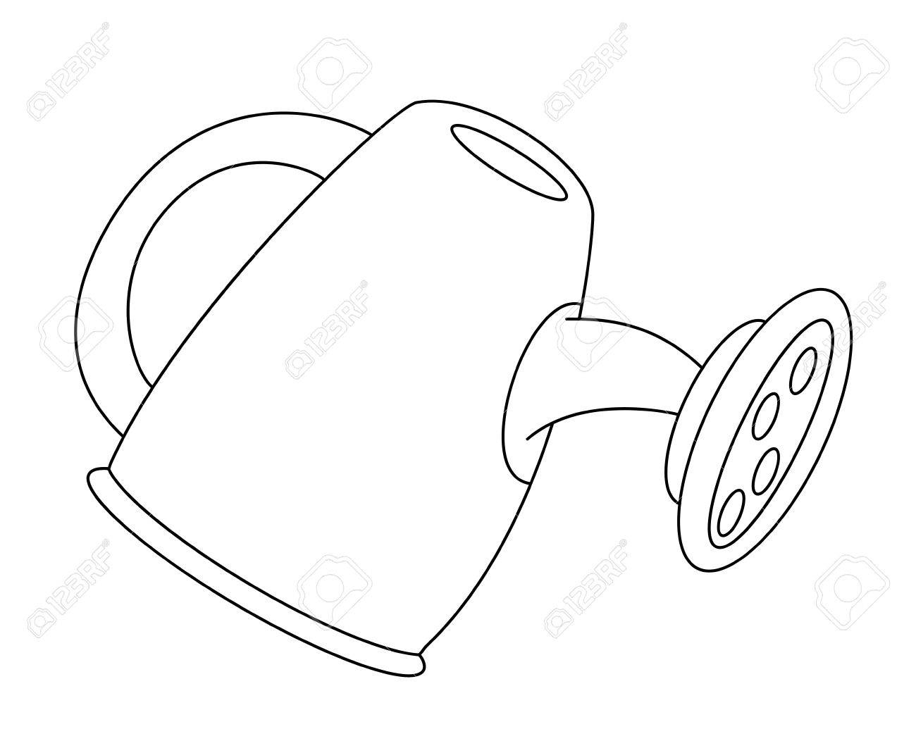 1300x1052 Watering Can Drawing Unique Watering Can Outline Vector Drawing