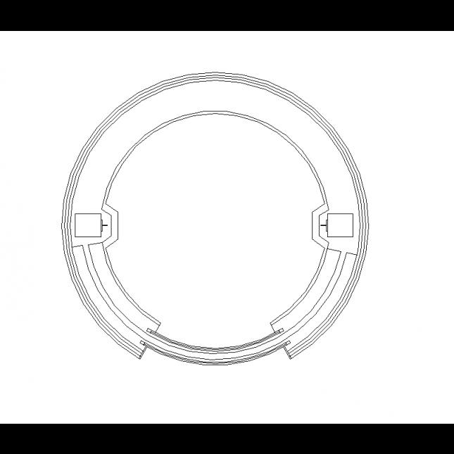 645x645 2d Cad Circular Lift Design