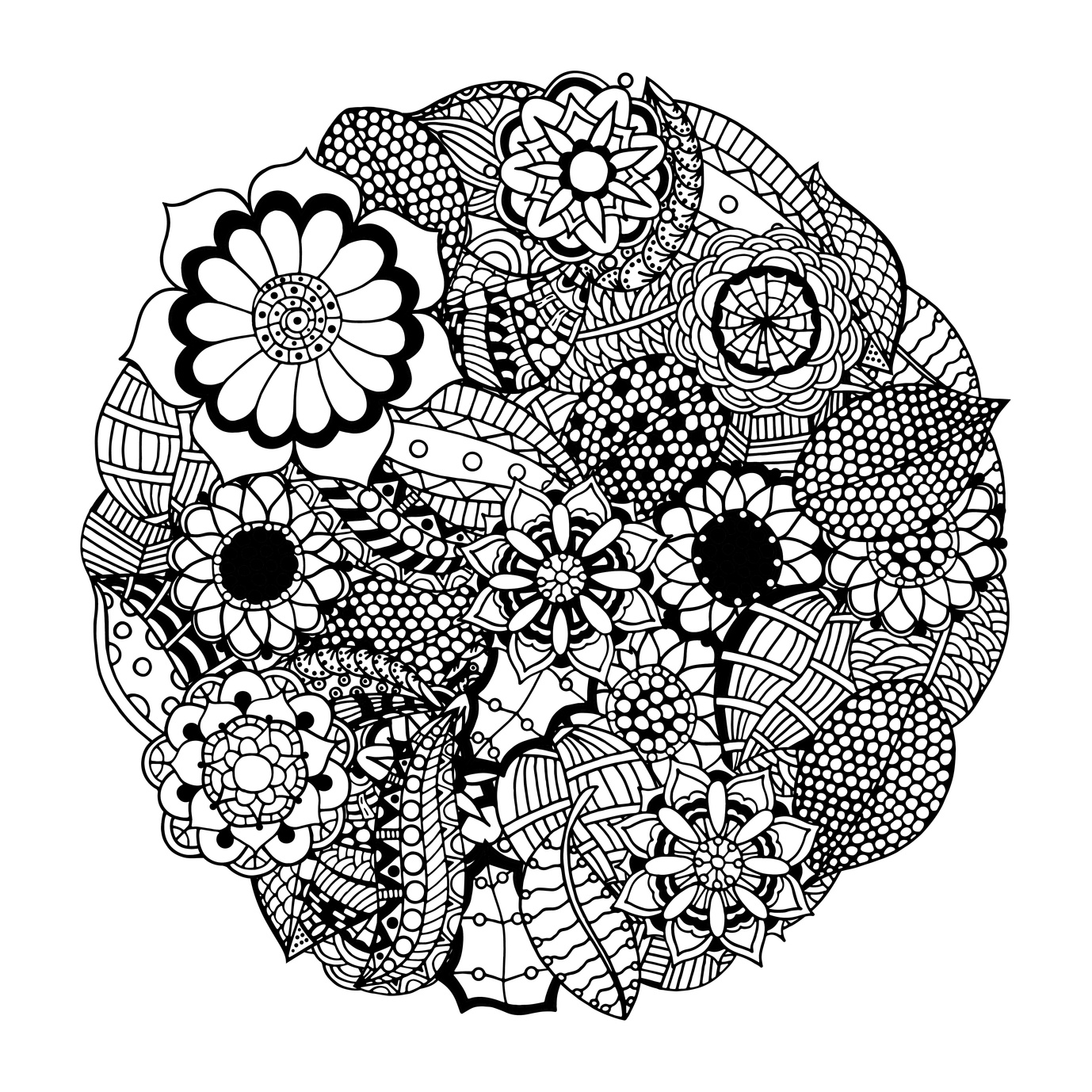 1378x1378 Bunch Ideas Of Printable Mandala Circle Drawing For Your Free