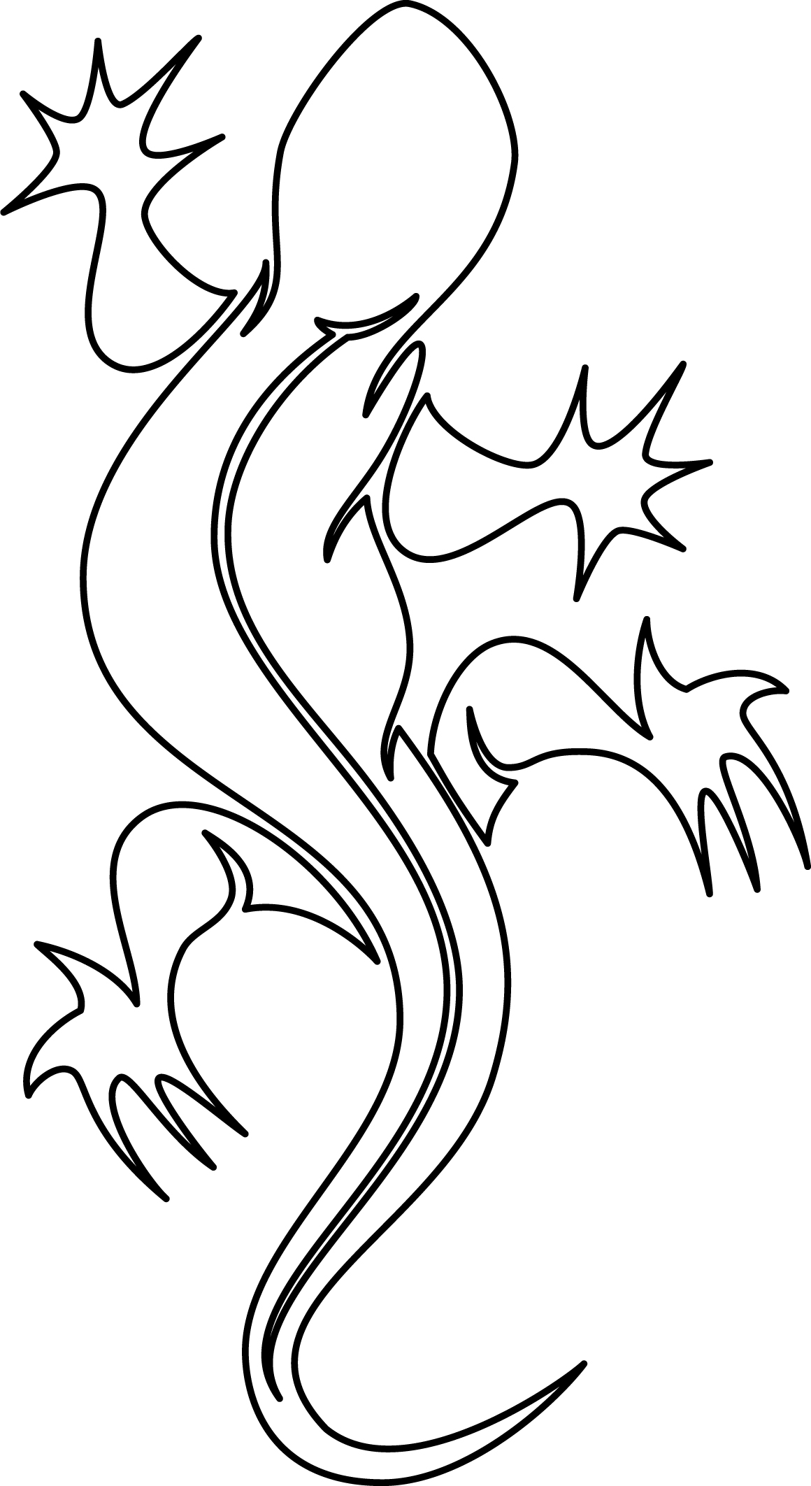 1160x2125 Drawn Lizard Clipart Black And White