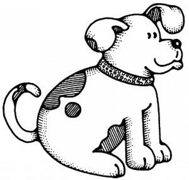 626x596 Dog Drawing Vector Photo Free Download