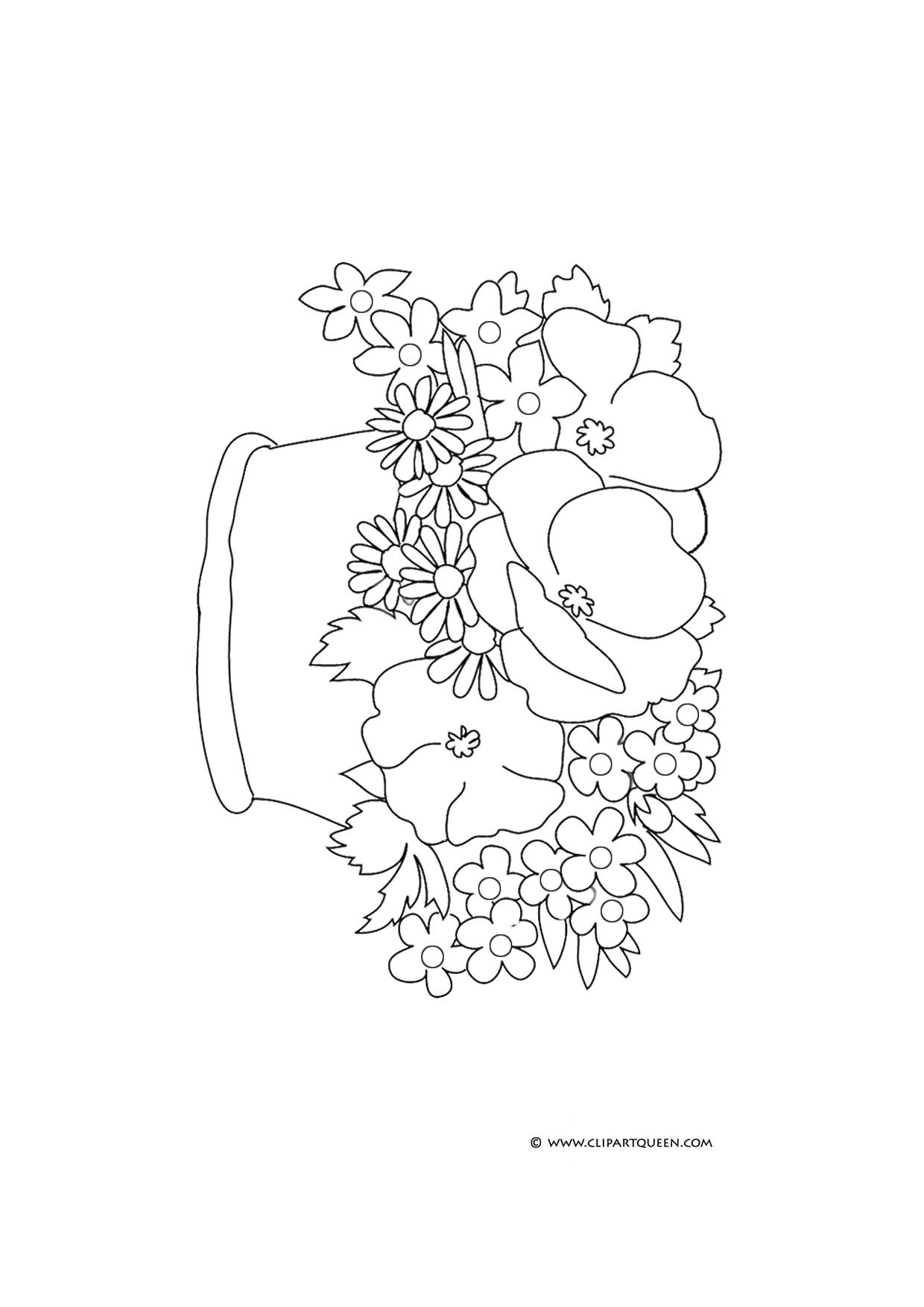 1240x1754 Basket Of Flower Drawings Easy Drawing Of Basket Of Flowers Free