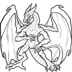 236x236 How To Draw Dragons Fighting, Dragons Fighting, Step By Step