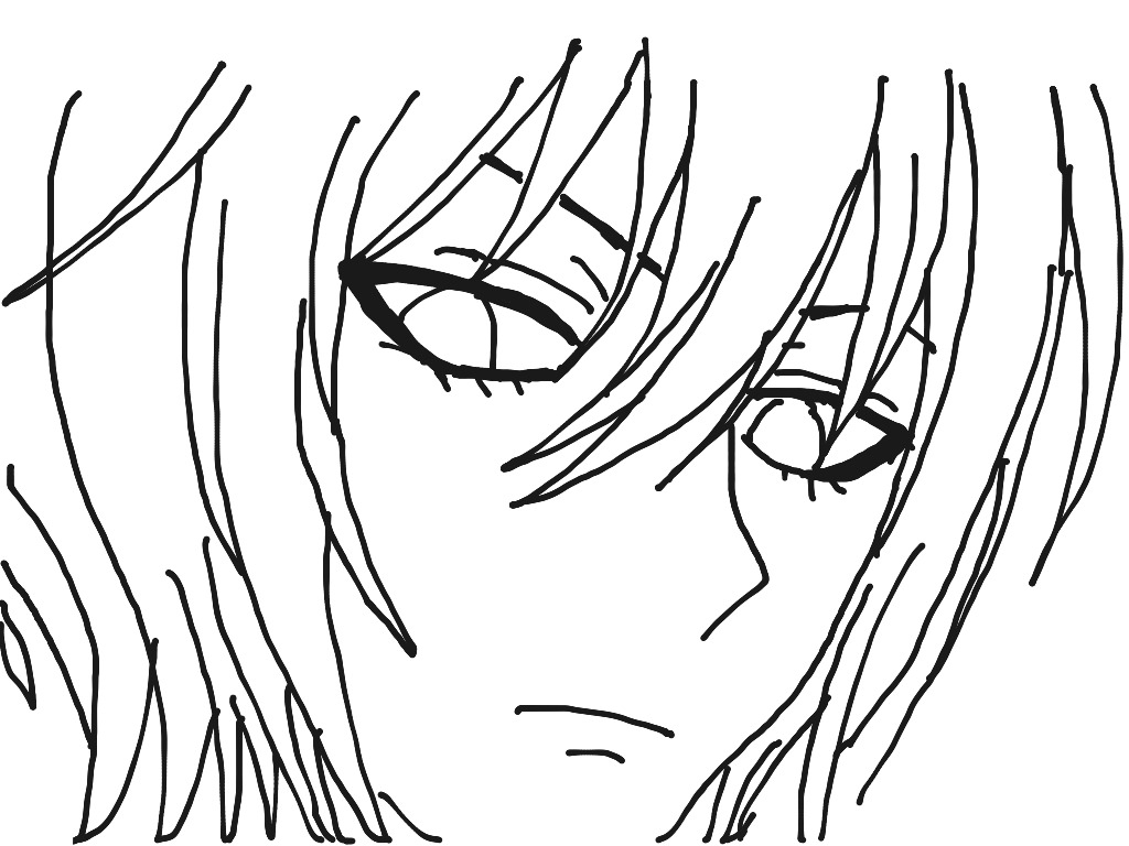 1024x768 How To Draw Anime Boy Eyes Easy To Printable Coloring Pages Free