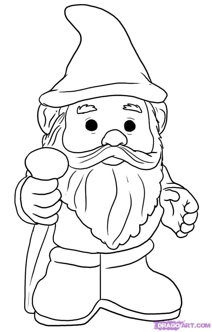 716x1123 How To Draw A Gnome, Step By Step, Stuff, Pop Culture, Free Online