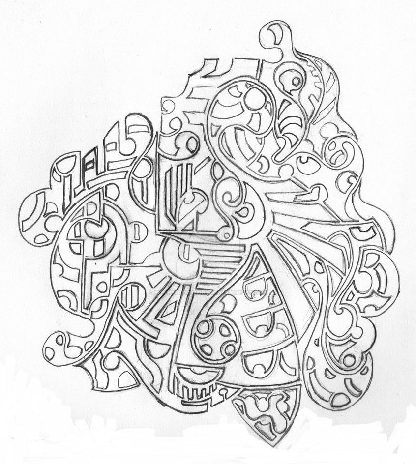 846x944 Free Hand Tattoo Design By Bleuberrymuffintop