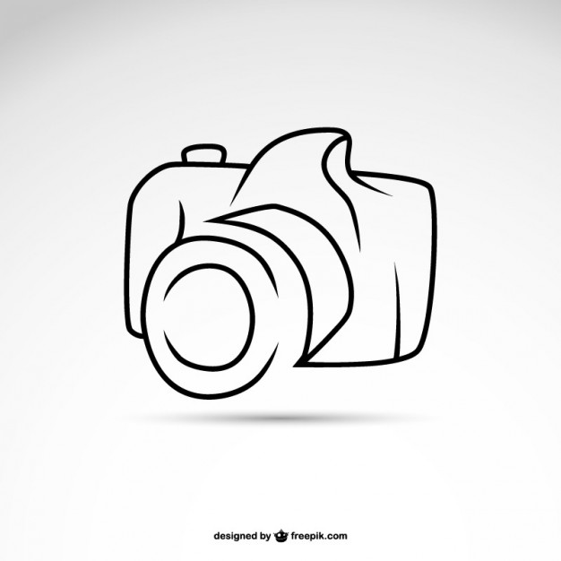 626x626 Line Art Camera Symbol Logo Template Vector Free Download