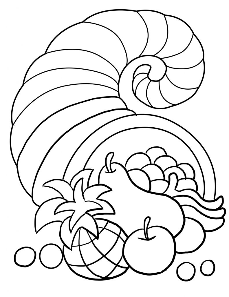 791x1024 Thanksgiving Coloring Pages Free Download