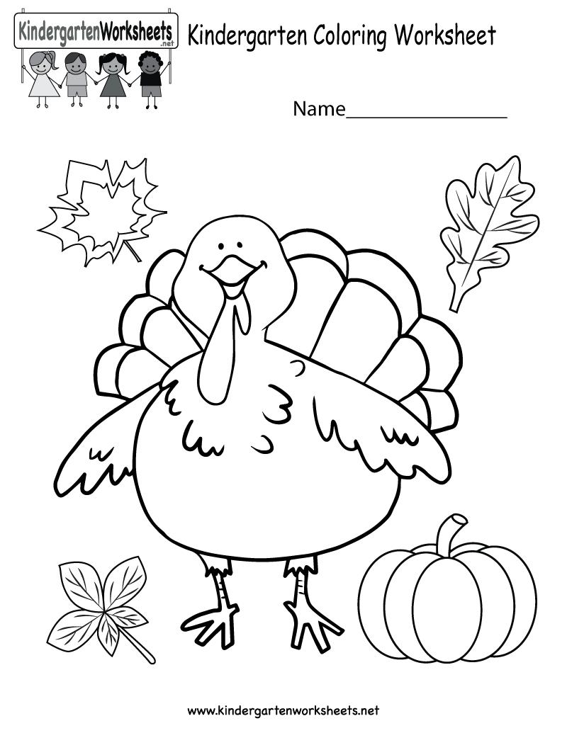 800x1035 Kindergarten Thanksgiving Coloring Worksheet Printable