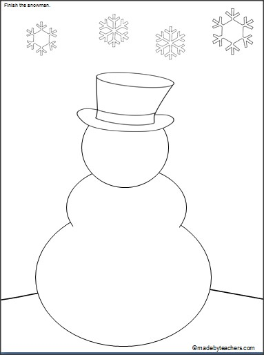 383x514 This Is A Free Snowman Drawing And Coloring Activity