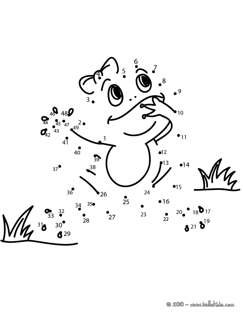 820x1060 Frog Dot To Dot Game Printable Connect The Dots Game Coloring