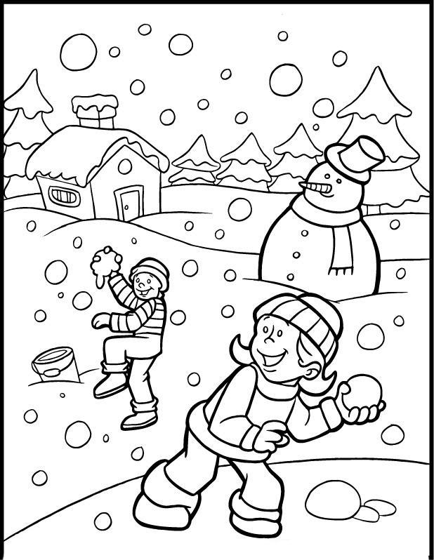 618x798 Winter Coloring Pages For Kids To Print Free And Paint Colouring