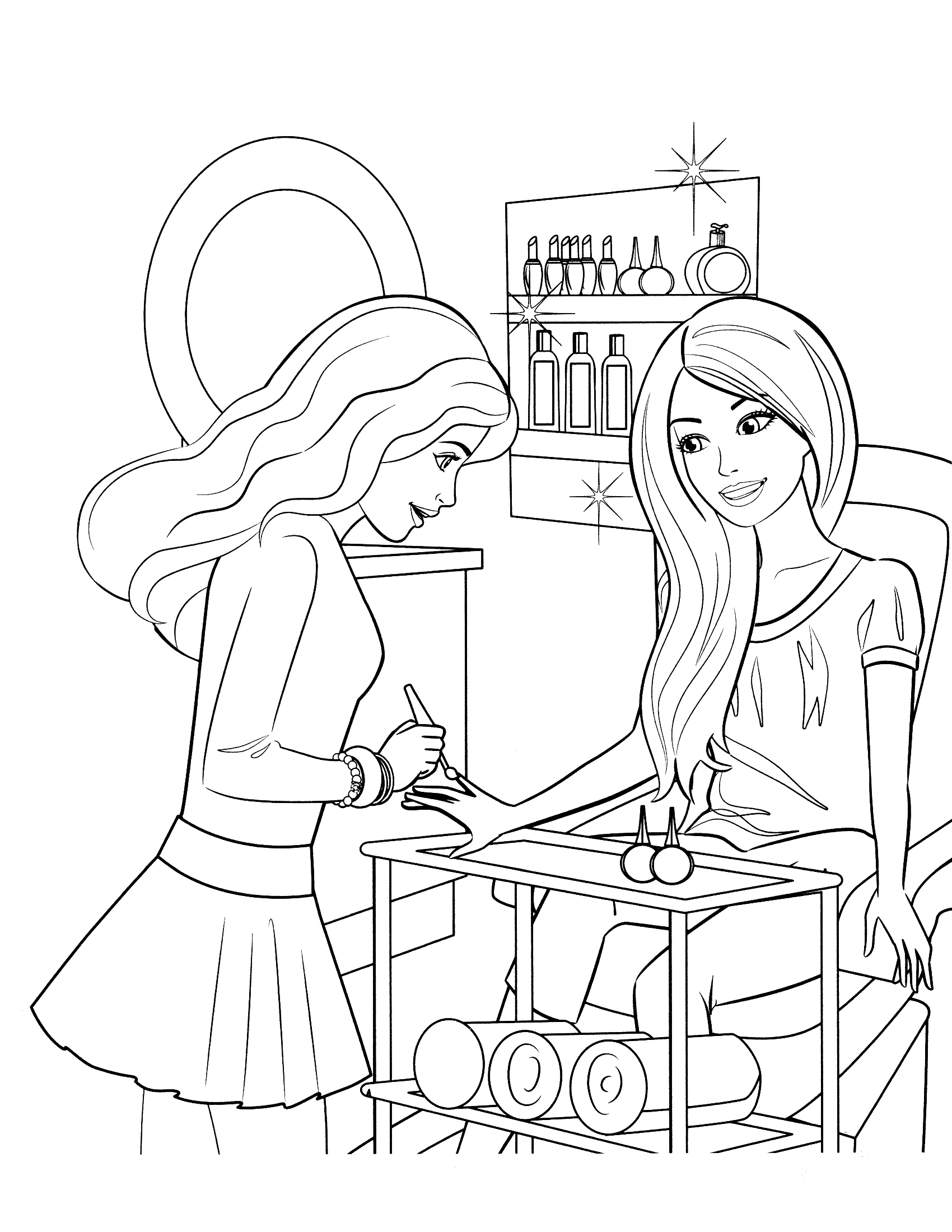 1700x2200 Free Printable Barbie Coloring Pages For Kids Drawing