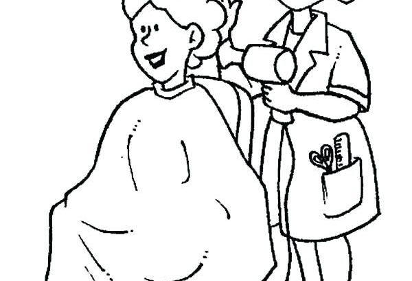 600x409 Hair Salon Coloring Lesson Kids Coloring Page Coloring Lesson