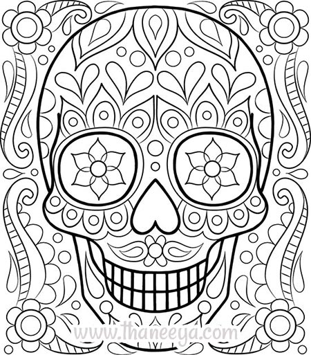 450x513 Free Adult Coloring Pages Detailed Printable Coloring Pages