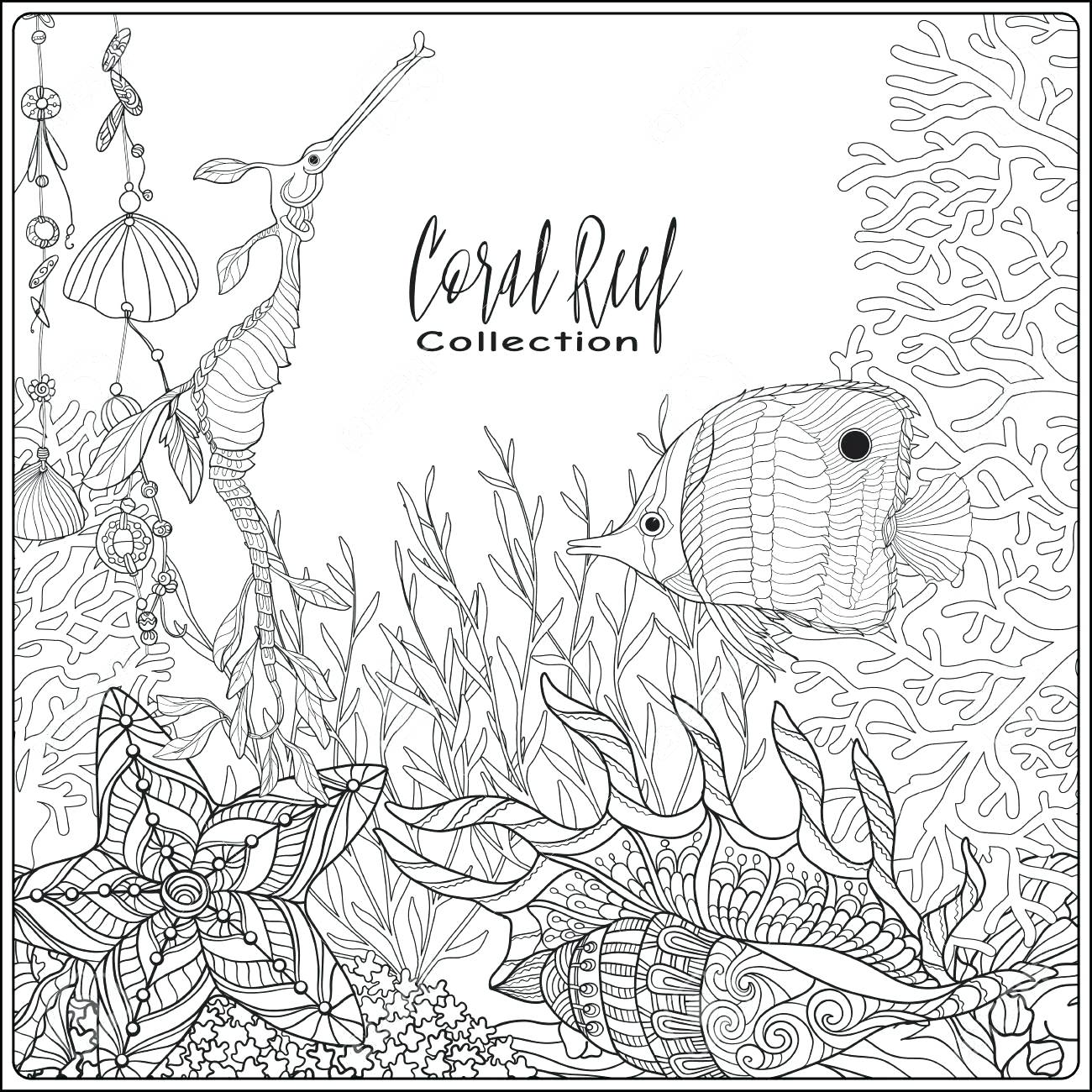 1300x1300 Coloring Great Barrier Reef Coloring Pages