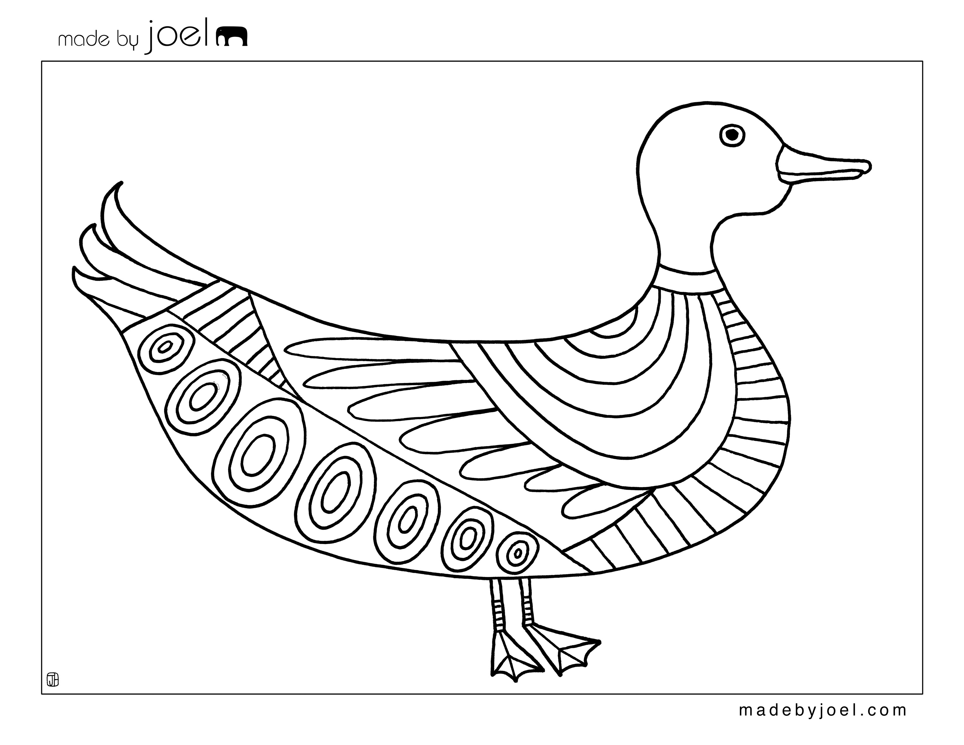 3300x2550 Made By Joel Duck And Goat Coloring Sheets