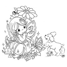 230x230 Top 25 Free Printable Beautiful Fairy Coloring Pages Online