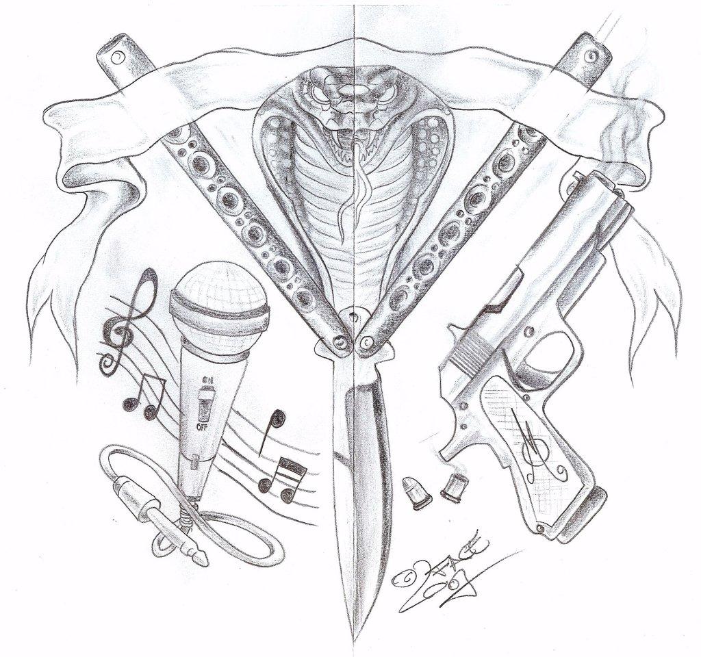 1024x960 Drawing Gangsta Designs Free Tattoo Drawings Of Ben Franklin