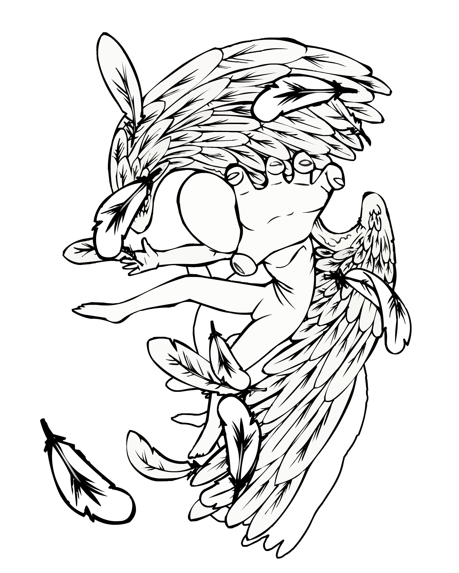 1500x1875 Angel Tattoo Falling Or Fallen Angel Design Free Flash