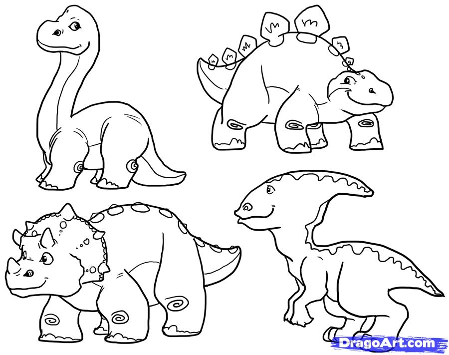 900x711 How To Draw Cute Dinosaurs, Cute Dinosaurs, Step By Step