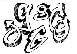 269x189 Discover How To Draw Graffiti Style Letters With These Free