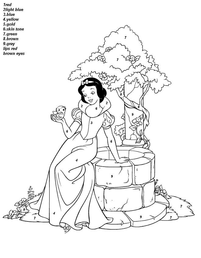 660x847 Free Printable Color By Number Coloring Pages