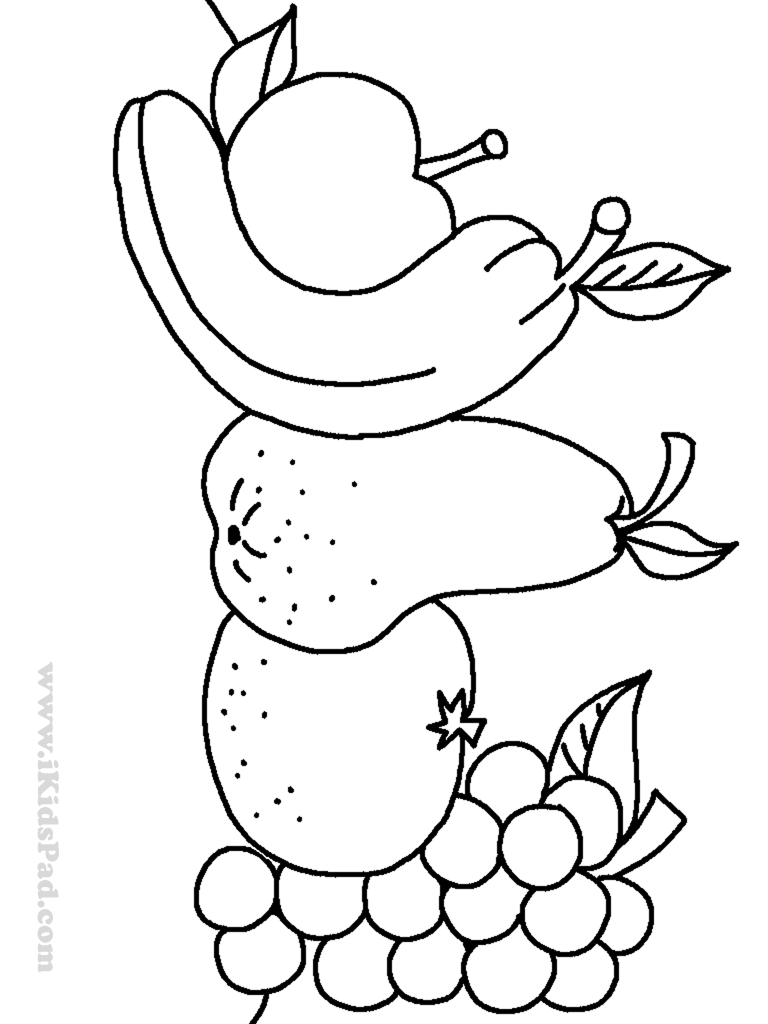 768x1024 Beautiful Design Fruits Coloring Worksheets For Kindergarten Free