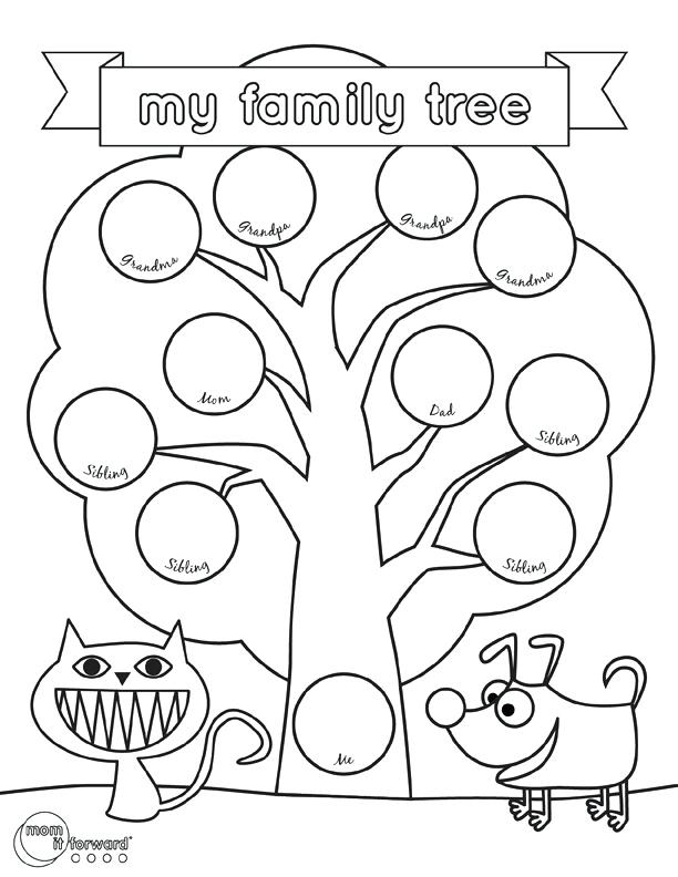 612x792 Family Tree Coloring Family Trees Coloring Pages Download