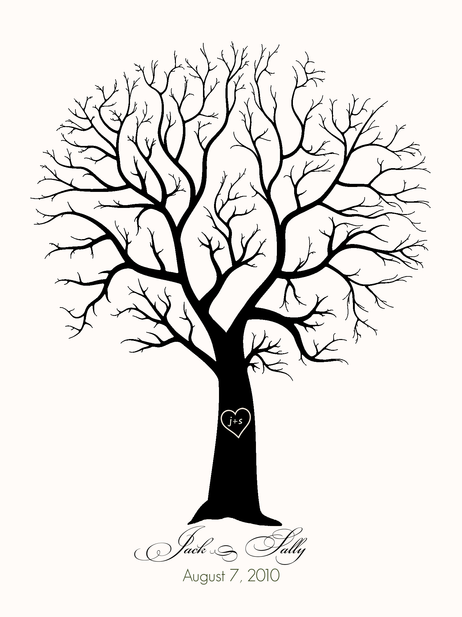 1500x2000 Family Tree Template No Leaves Tree Without Leaves Coloring Page