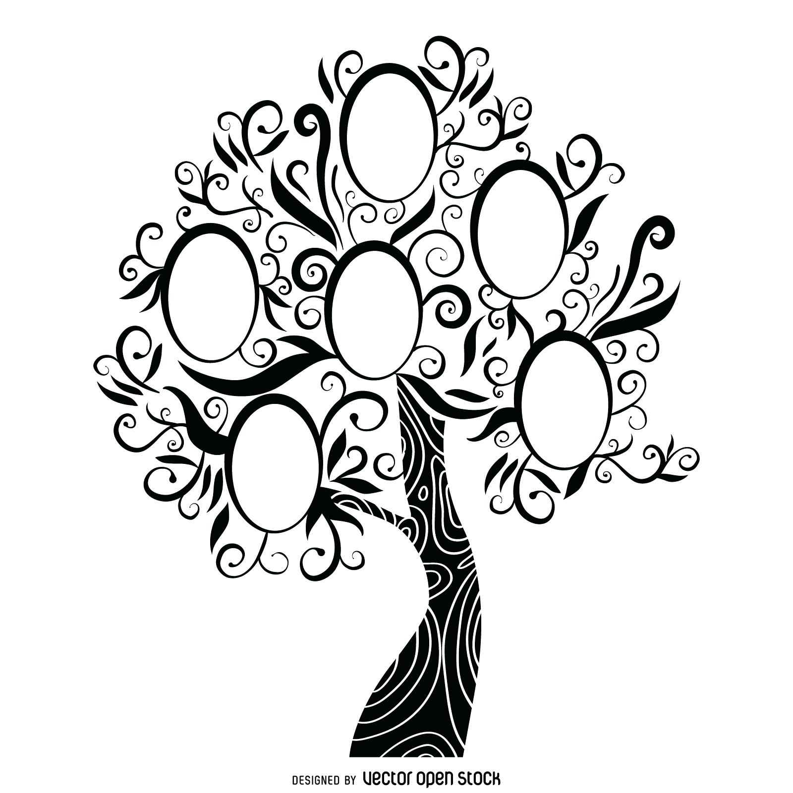 1600x1600 Template Fancy Family Tree Template