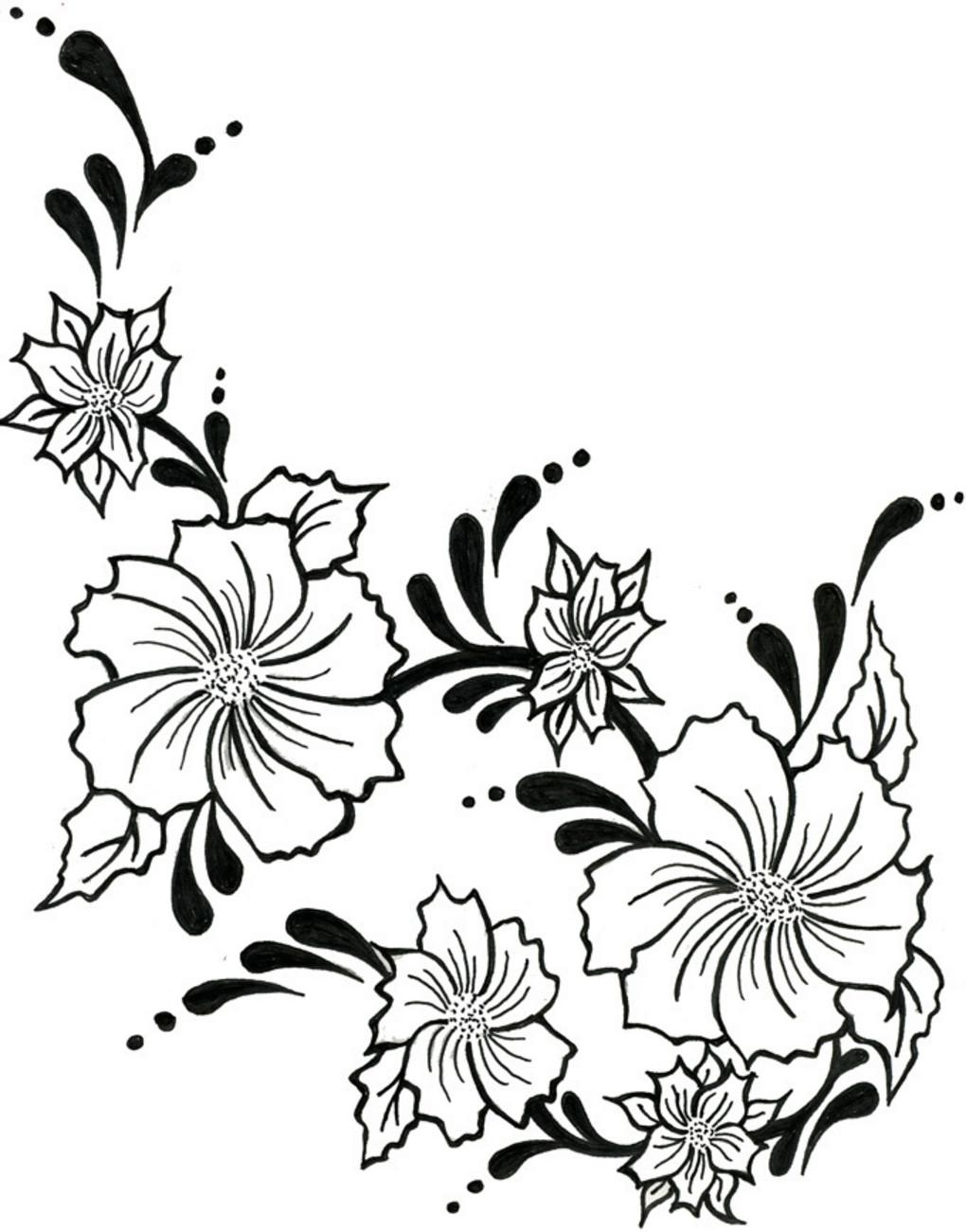 Vine Flower Bouquet Drawing Flowers Healthy