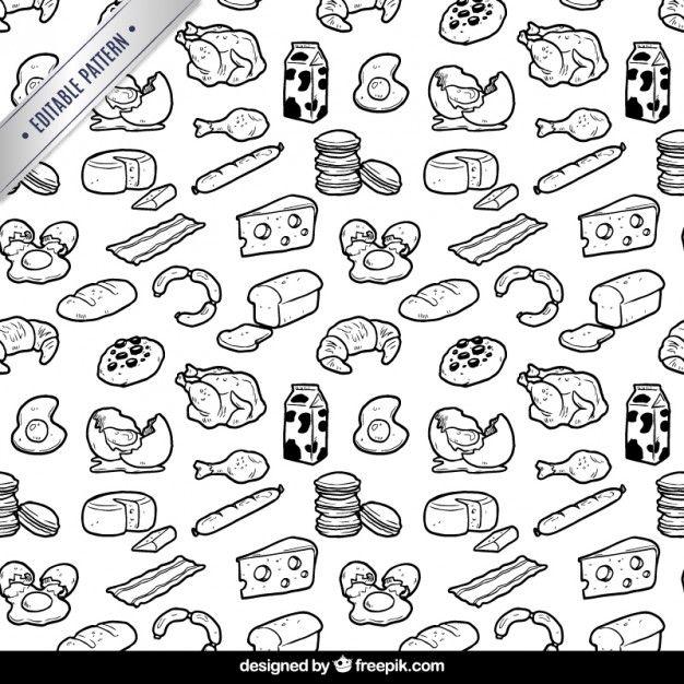 626x626 Hand Drawn Food Pattern I Free Vector Food Food