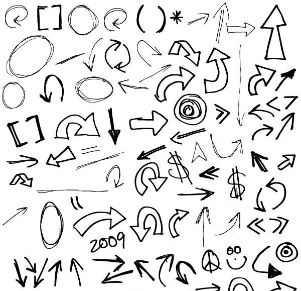 600x579 Free Graphics Vector Arrow Symbols And Shapes