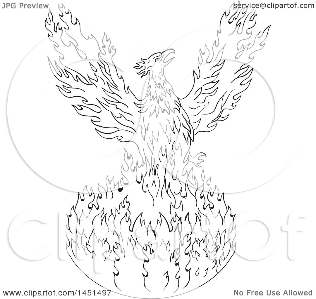 1080x1024 Clipart Graphic Of A Black And White Drawing Sketch Styled Rising