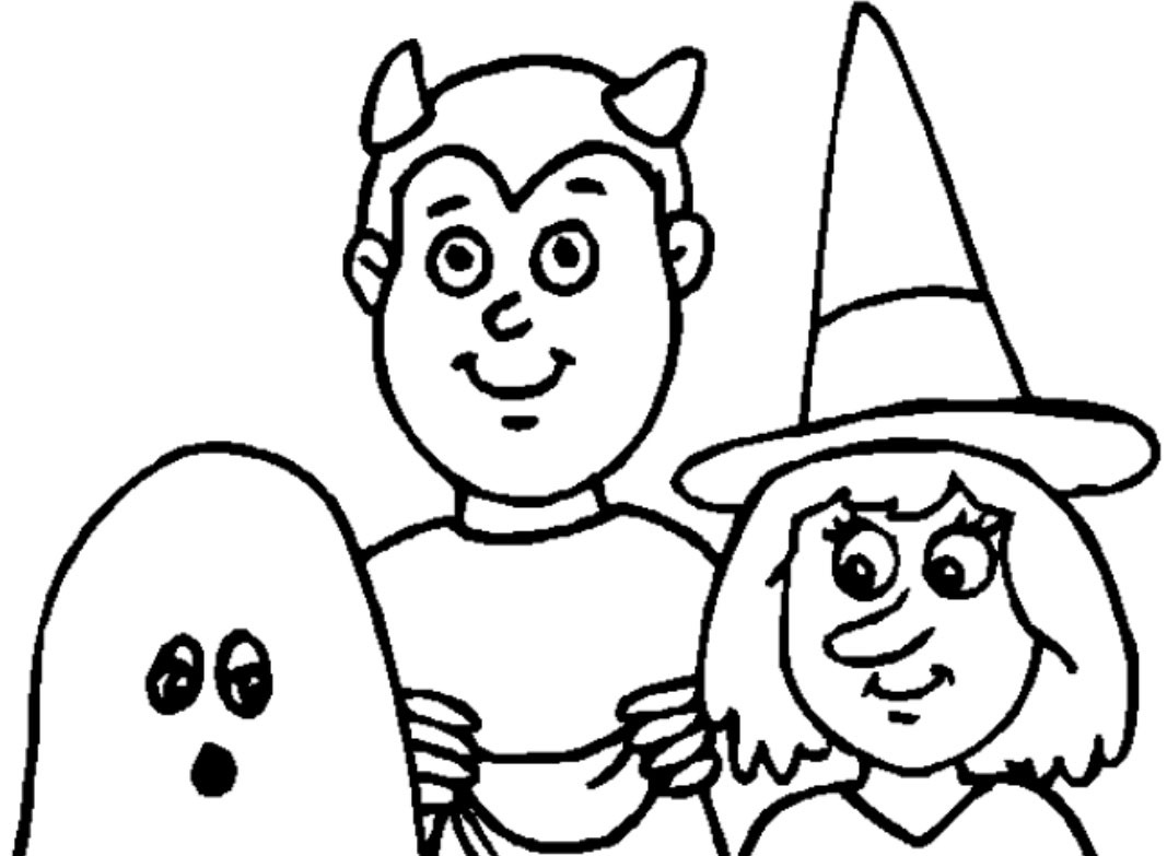 1067x783 free printable halloween coloring pages for kids - Halloween Pictures For Kids To Draw