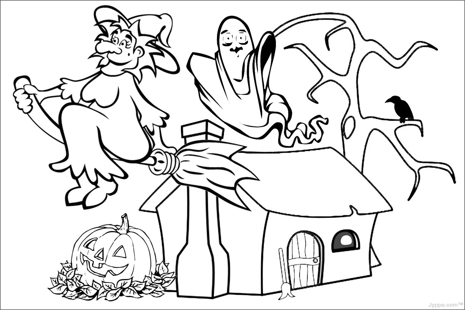 1500x1000 halloween images to color 4 - Halloween Pitchers