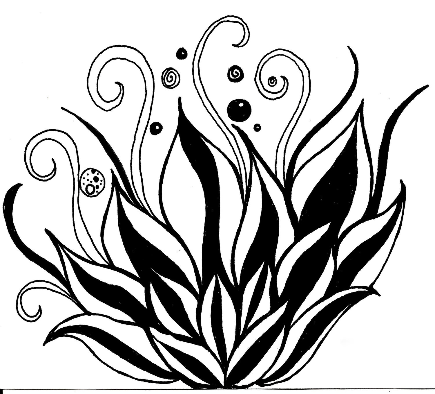 Free Hand Drawing Flowers