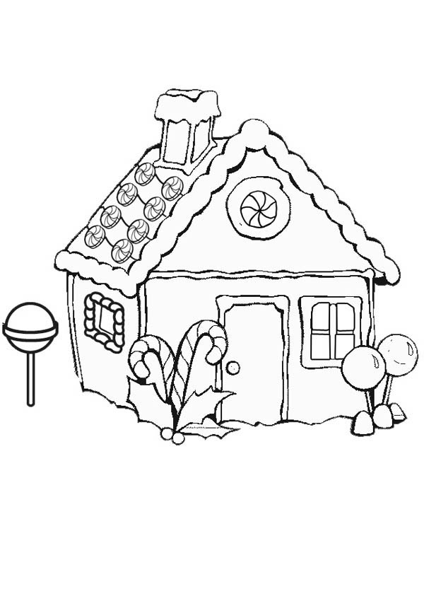 600x850 Christmas Coloring Pages Gingerbread House537754
