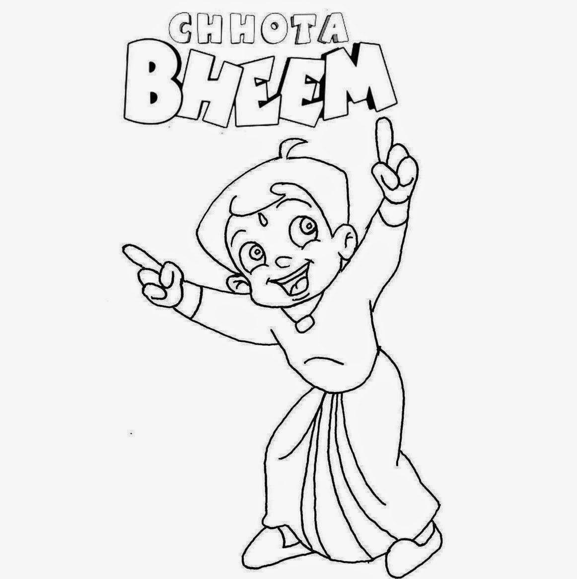 1162x1165 Colour Drawing Free Wallpaper Chota Bheem For Kid Coloring
