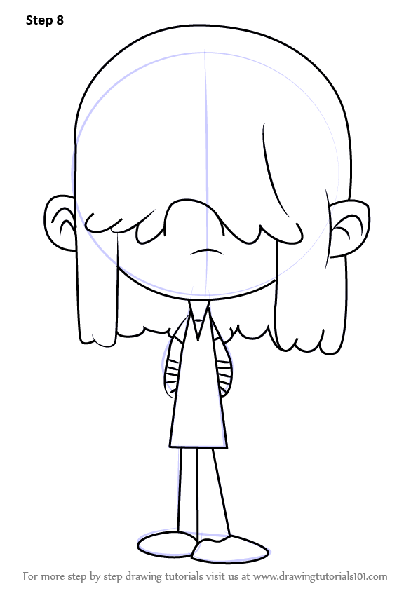 596x843 Learn How To Draw Lucy Loud From The Loud House (The Loud House